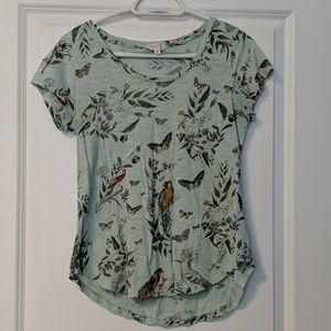 Lucky Brand Birds and Butterflies T-Shirt